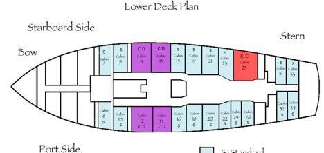 Lower deck plan