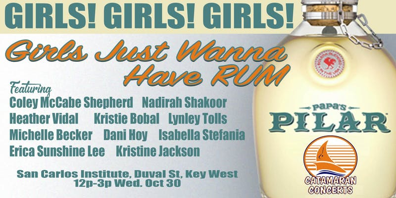 October 30, Noon – 3 pm: Girls Just Wanna Have Rum